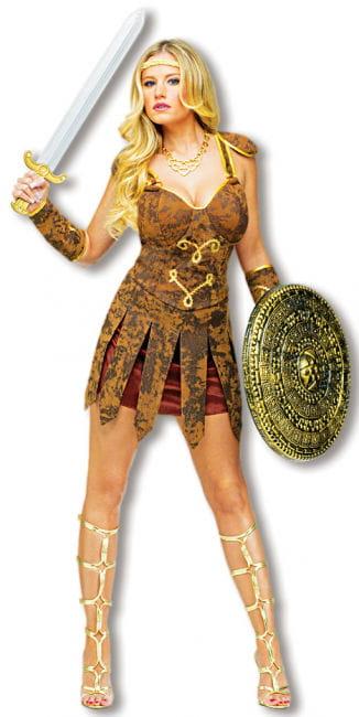 Sexy Gladiatorin Kostüm Braun M/L 38-40