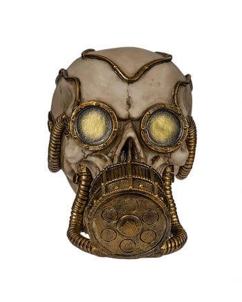 Spardose Skull mit goldener Gasmaske