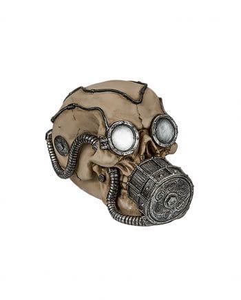 Spardose Skull mit silberner Gasmaske