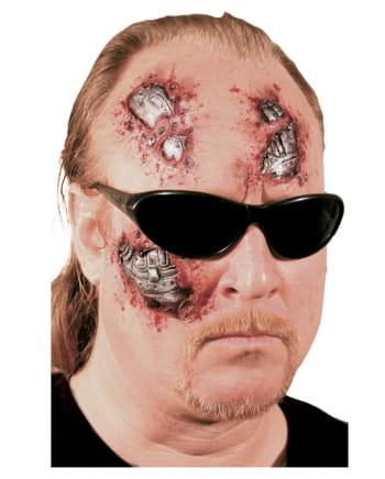Terminator Cyborg Wunde 3-teilig