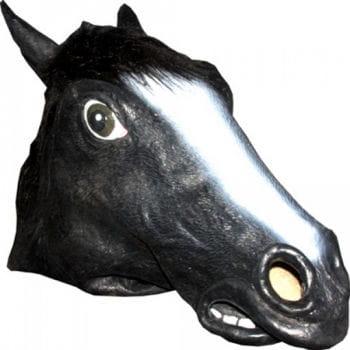 Tier Maske Pferd schwarz