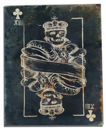 Totenkopf Leinwanddruck Kreuz König