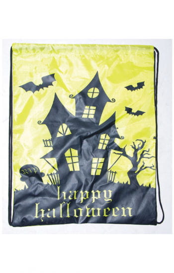 Trick or Treat Beutel mit schwarzem Geisterhaus
