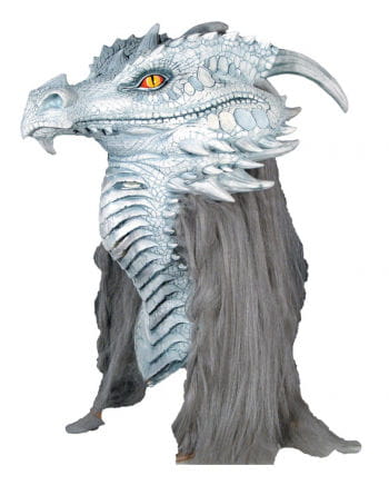 Weiße Drachenmaske