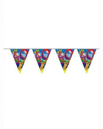 Geburtstagsgirlande Swirls 40 Jahre
