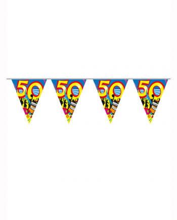 Geburtstagsgirlande Swirls 50 Jahre