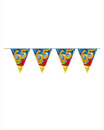 Geburtstagsgirlande Swirls 65 Jahre