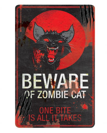 Horror Katze Warnschild