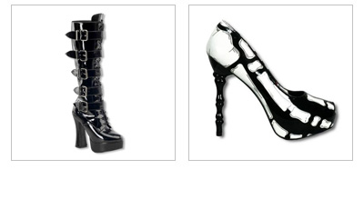 Gothic Shoes & Rockabilly High Heels