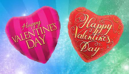 Folienballon Valentinstag