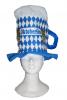 Beer mug hat with diamond pattern