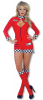 Pit Babe Catsuit Red S / 36