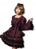 Anime Dress black-bordeaux