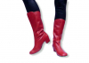 Carnival Boots Red UK 4 US 6