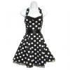 Neckholder Rockabilly Kleid schwarz-weiß XL / 40-42