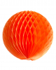 Honeycomb ball 30cm orange