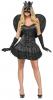 Sexy Black Angel Costume M/L 38-40