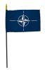 Stockflagge NATO klein