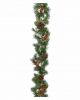 Garland with snow, berries and cones 2,7m