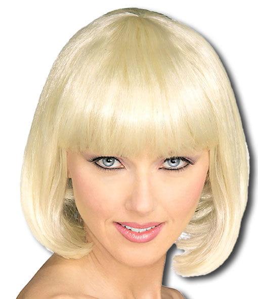 Blonde Pagenkopf Perücke Blonde Kurzhaar Perücke als Bob