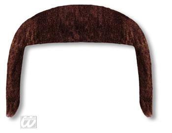 Macker Bart Economy Braun langer Hippie Bart für Fasching