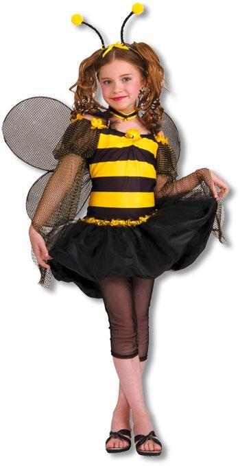 Süße Honigbiene Kinderkostüm Süßes Tierkostüm mit Flügel M