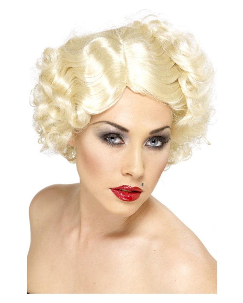 Hollywood Ikonen Perücke Blond 20er Jahre Perücke