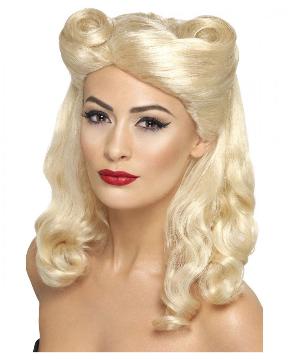 Pin Up Girl Perücke blond ✩ 40er Jahre