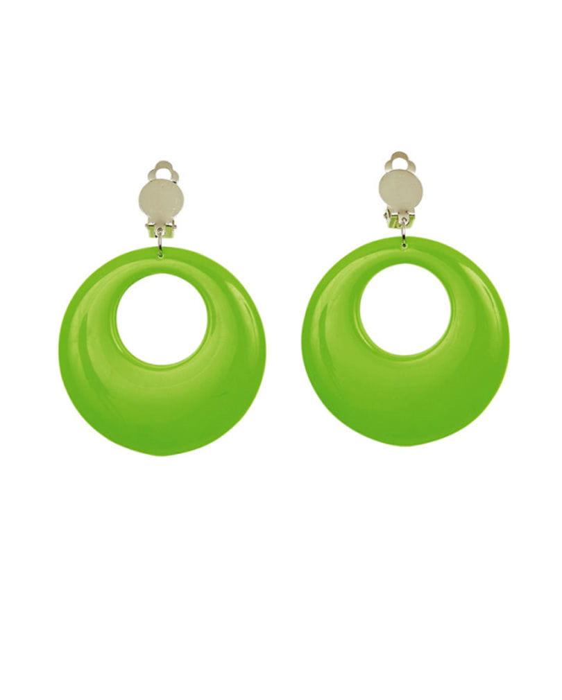 80er Jahre Ohrringe Neongrün Neon Ohringe 80´s Style
