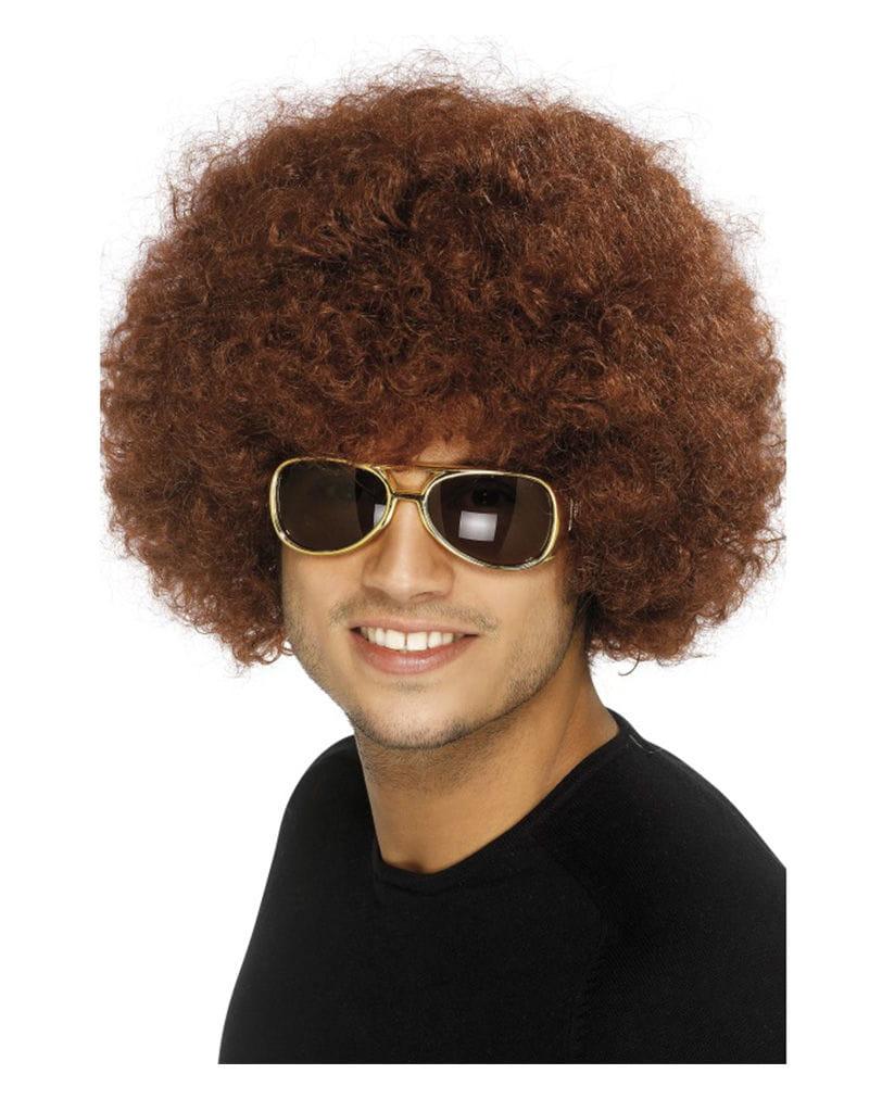 Braune Afro Perücke 70er Jahre Kostümzubehör