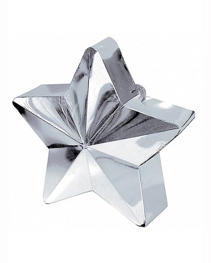 Ballogewicht Silberfarbener Stern 170g Heliumballon Zubehör