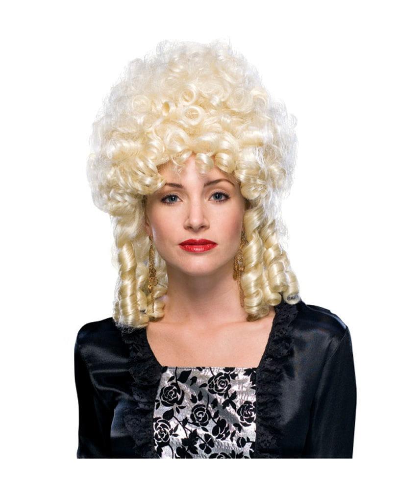 Barock Stöpsellocken Perücke Blonde Damenperücke mit Locken