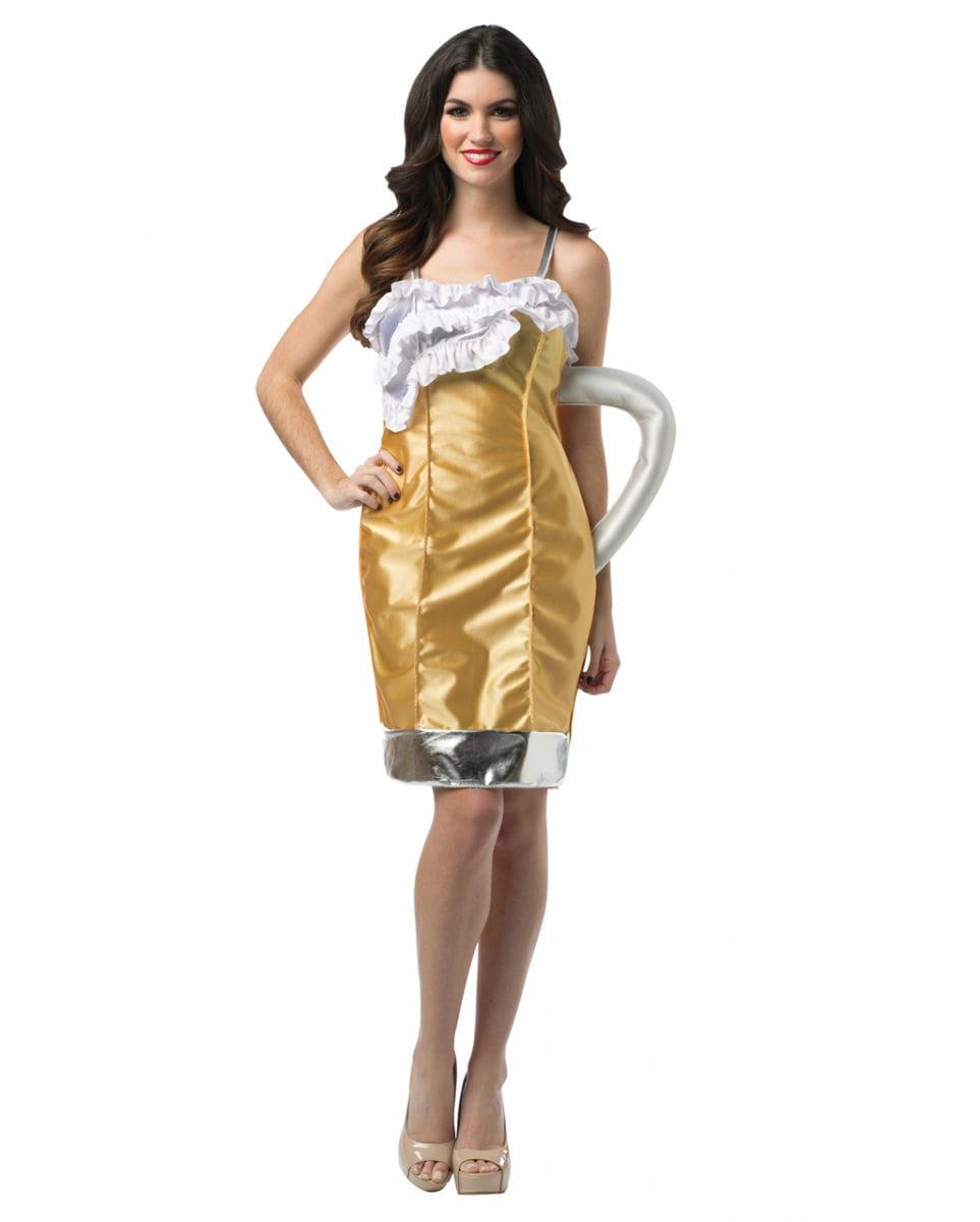 Maßkrug Kostüm für Damen für Themenpartys S/M