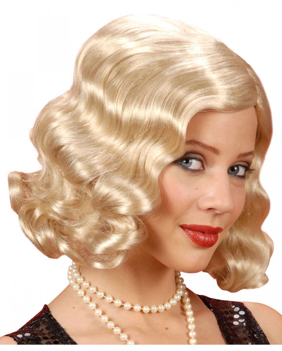 20er Jahre Perücke blond -Perücken günstig kaufen