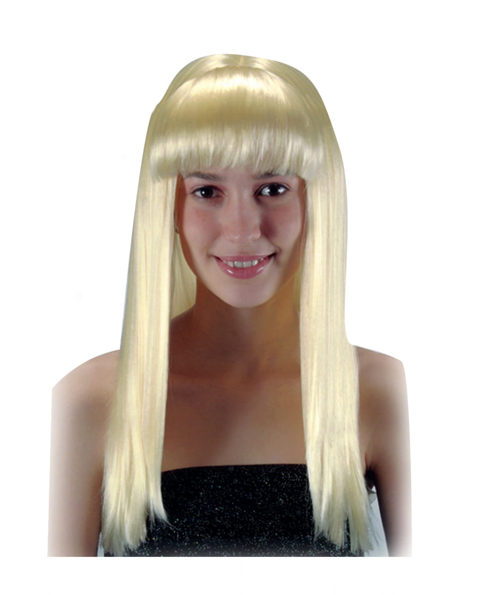 Langhaarperücke mit Pony Blond Perücken kaufen