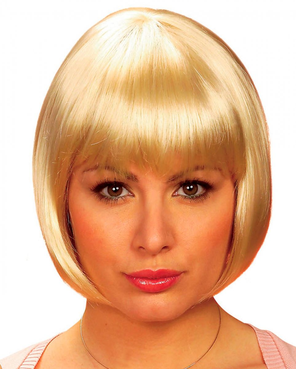 Pagenkopf Perücke Blond Faschingsperücken kaufen