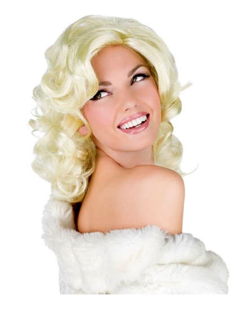 Blonde Diva Perücke Starlet Perücke für Fasching