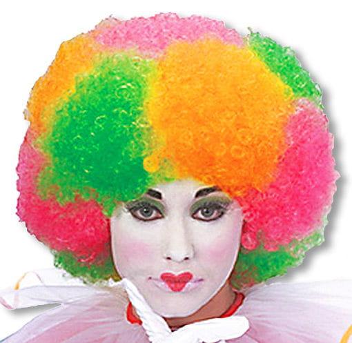 Bunte Neon Afro Perücke -bunte Perücken-Neon Perücken-Clown