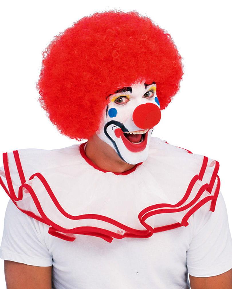 Rote Clown Perücke für Fasching