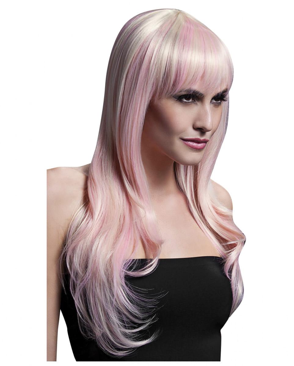 Sienna Damen Perücke blond pink Cosplay Perücke Damen Perücke