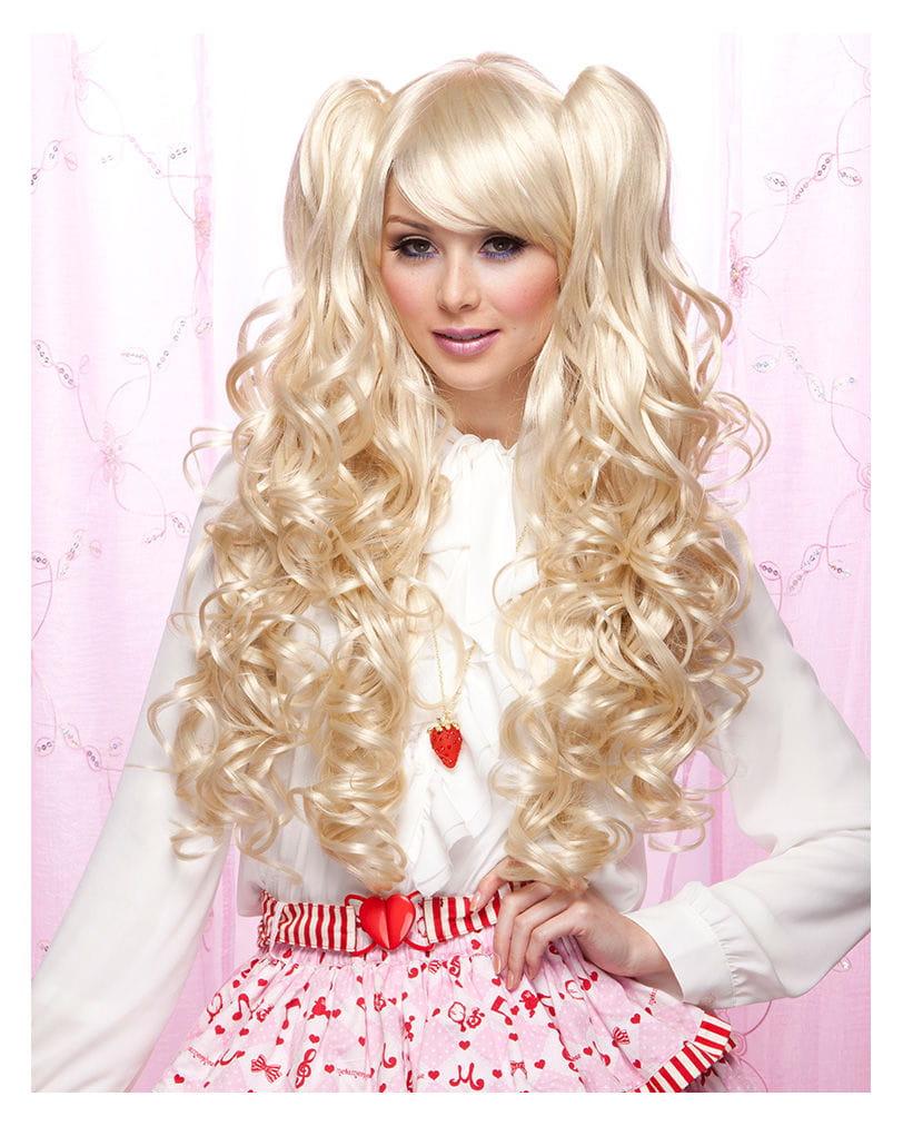 Joi Damenperücke blond Anime Perücke
