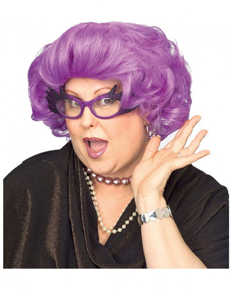 Dame Edna Perücke Violette Perücke Oma Perücke
