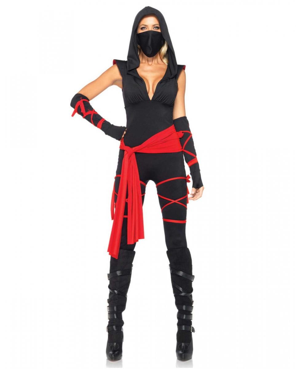 Sexy Ninja Kostüm für Damen Deluxe ✪ online bestellen L