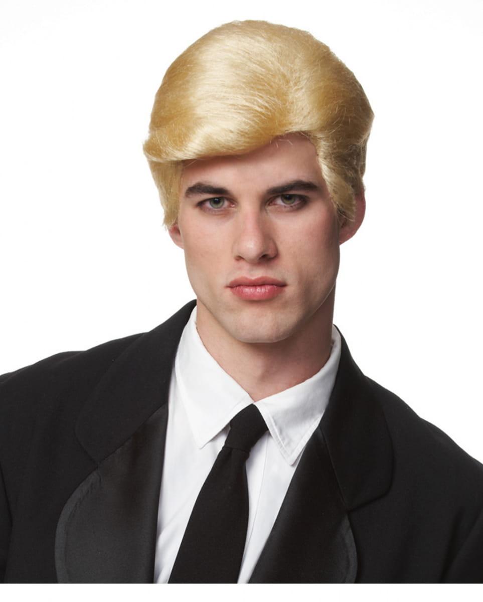 Blonde Donald Trump Perücke für Fasching