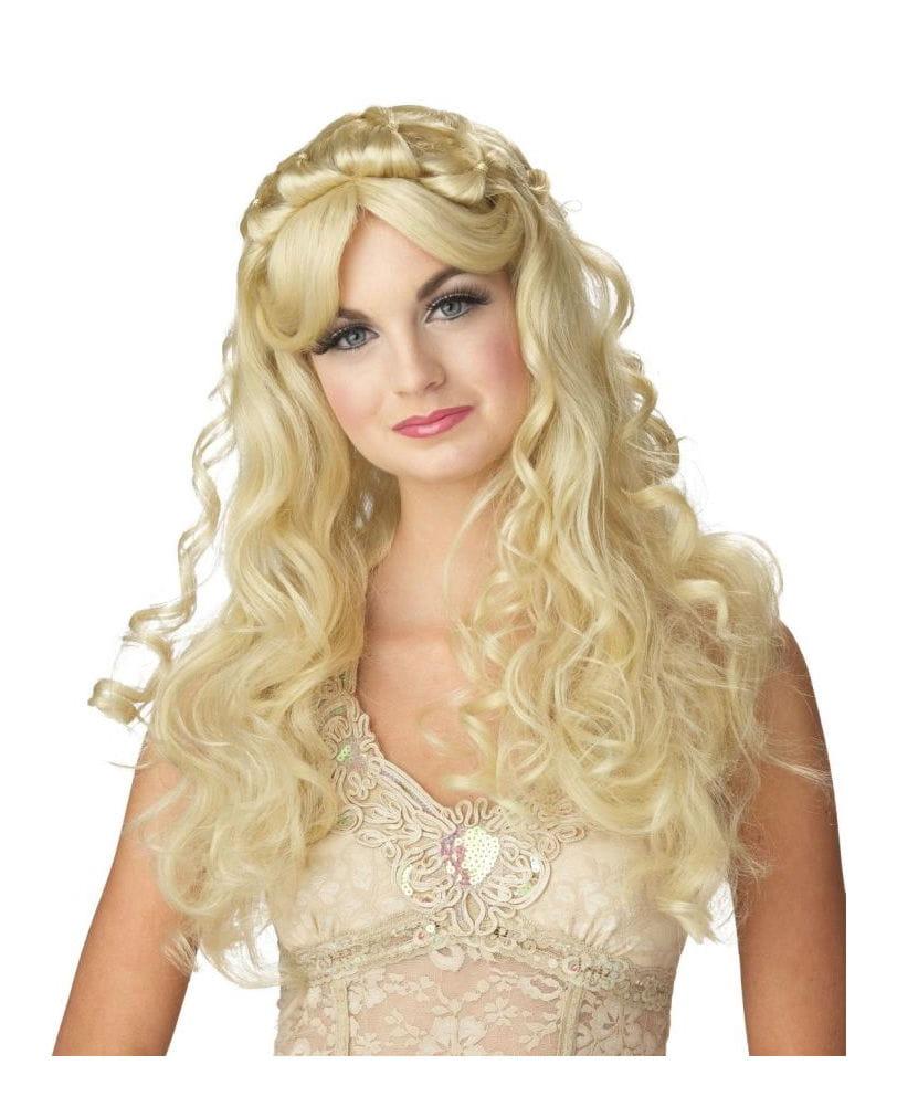 Blonde Dornen Prinzessin Perücke für Fasching