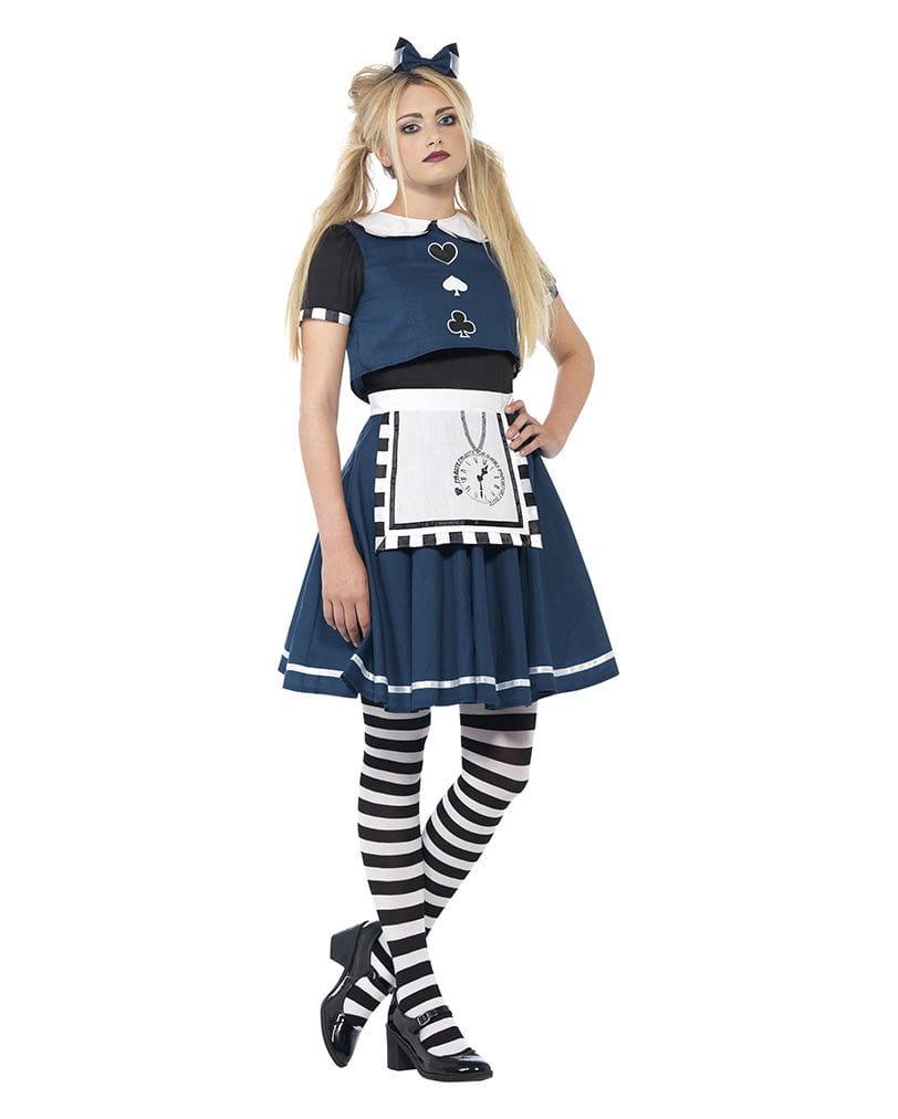 Gothic Alice Kostüm für Damen als finstere Faschings Verkleidung S
