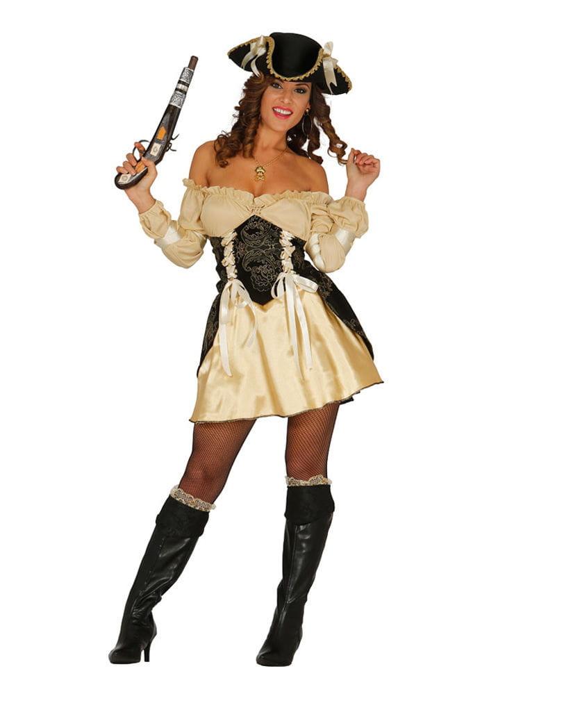 Edel Piratin Kostüm für Damen Freibeuterin Verkleidung L