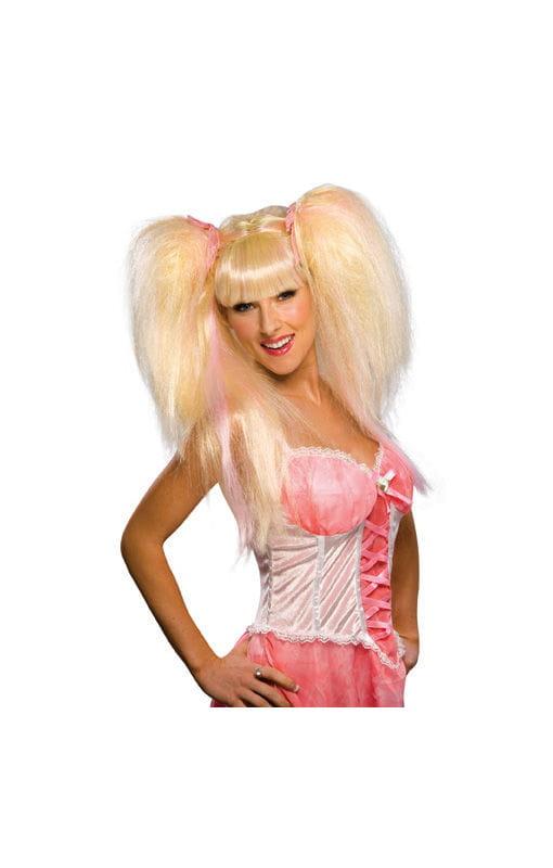 Sexy Feen Perücke blond/pink Schicke Feen Perücke für heiße