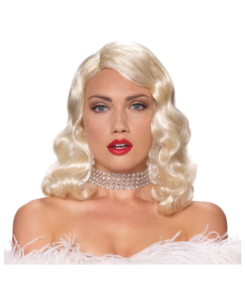 Blonde Femme Fatale Perücke Faschingsperücke