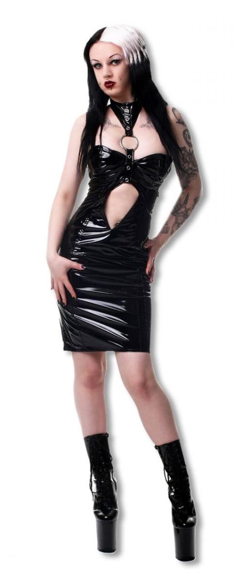 Lack Fetisch Kleid Gothic Mode günstig kaufen XL / 42